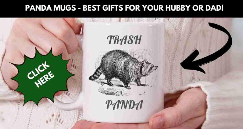 Funny Panda Gift Trash Cute Panda Mug