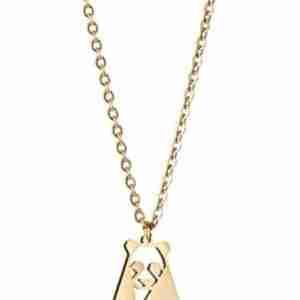 Gold Panda Necklace