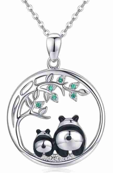 Silver Panda Bear Necklace