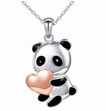 Silver Panda Necklace