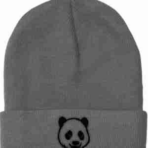 Winter panda beanie for men