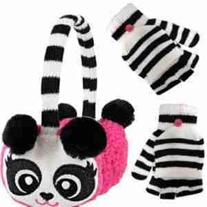 Winter panda earmuff and gloves for kids