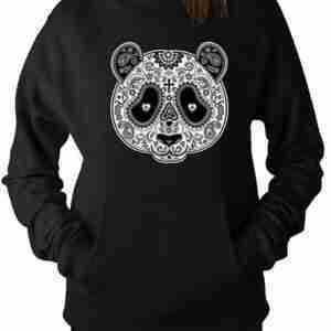 Aztec Black Panda Hoodie