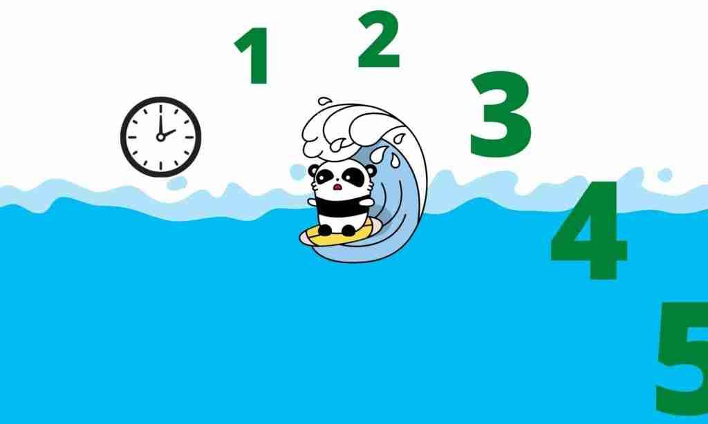 How long can giant pandas swim