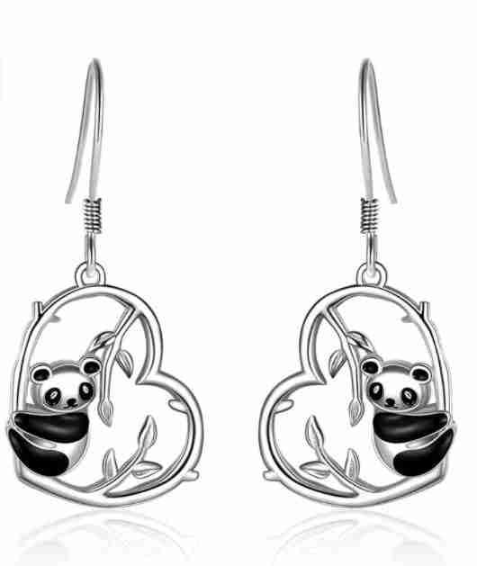 Silver Heart Ear Rings for Women