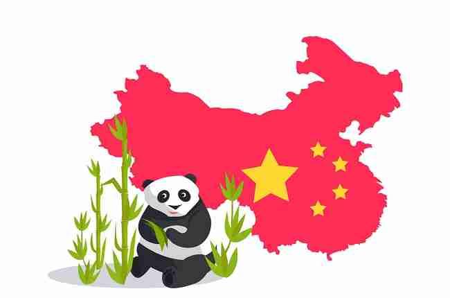 giant panda icon of china