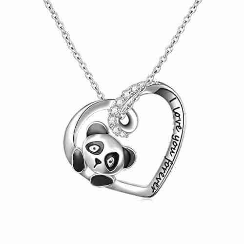 Best 9 Silver panda necklaces