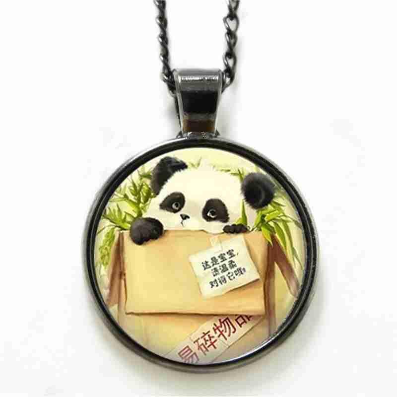 Top 9 silver panda necklace