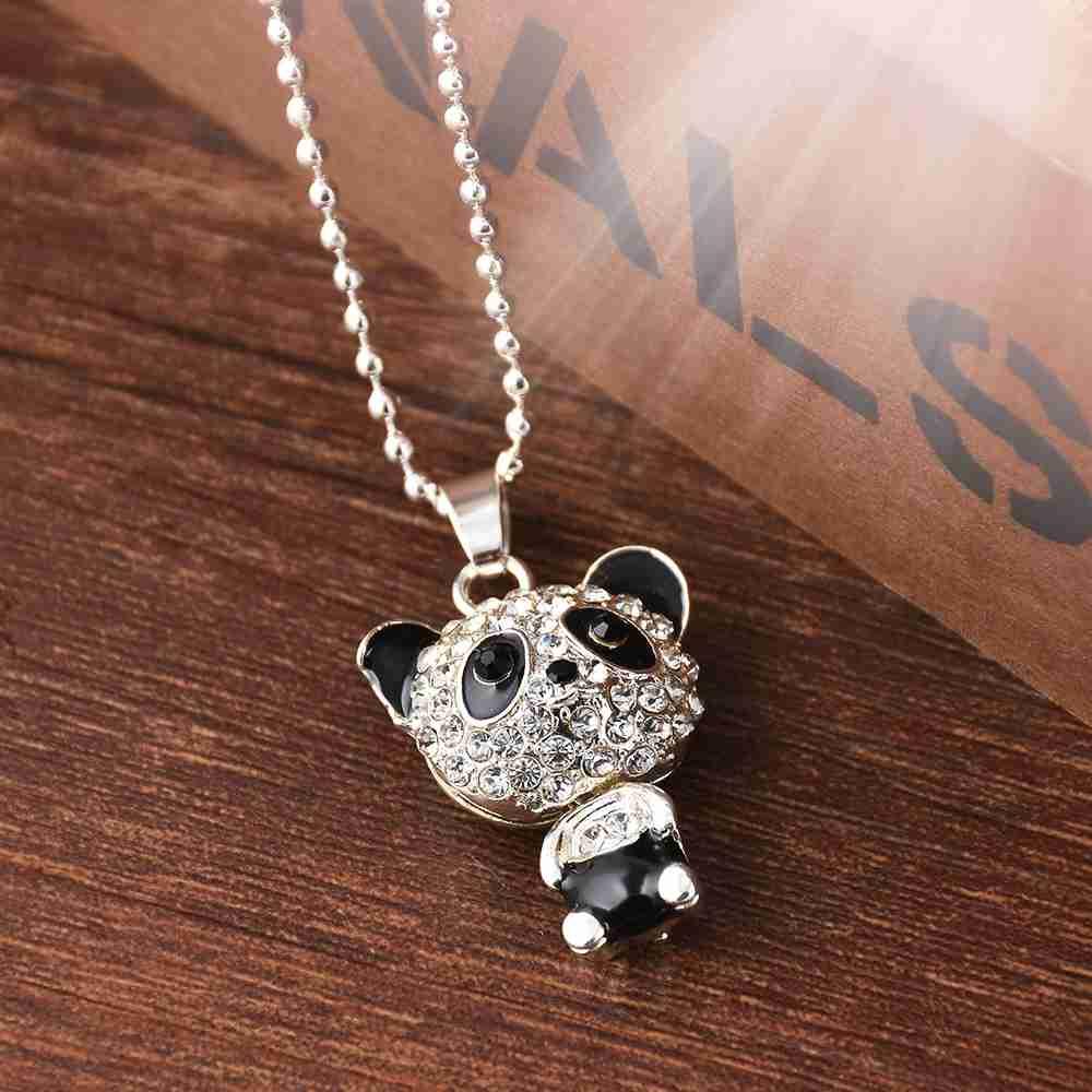 Best silver panda necklace for women