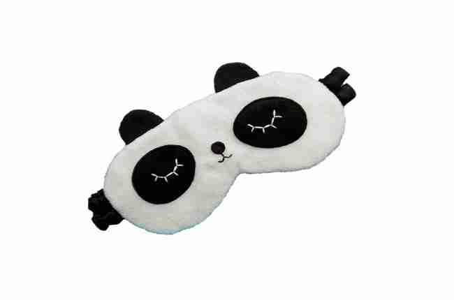 handmade sleeping panda mask