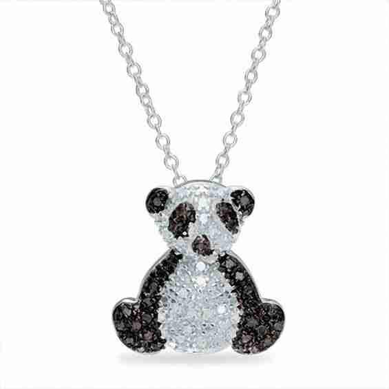 Best silver panda necklace