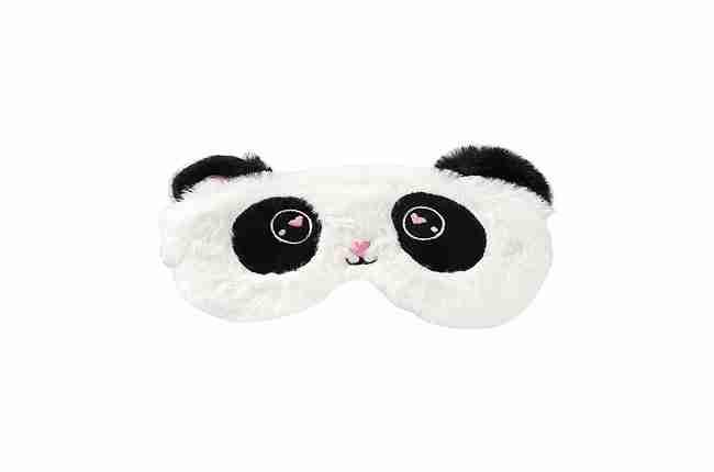 panda plush sleeping mask