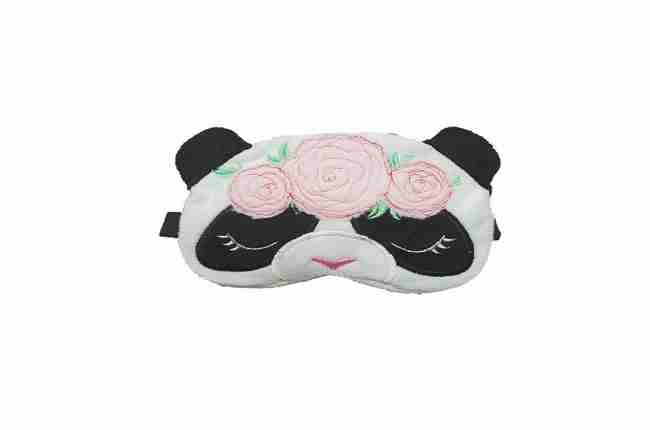 panda sleeping mask with rose design