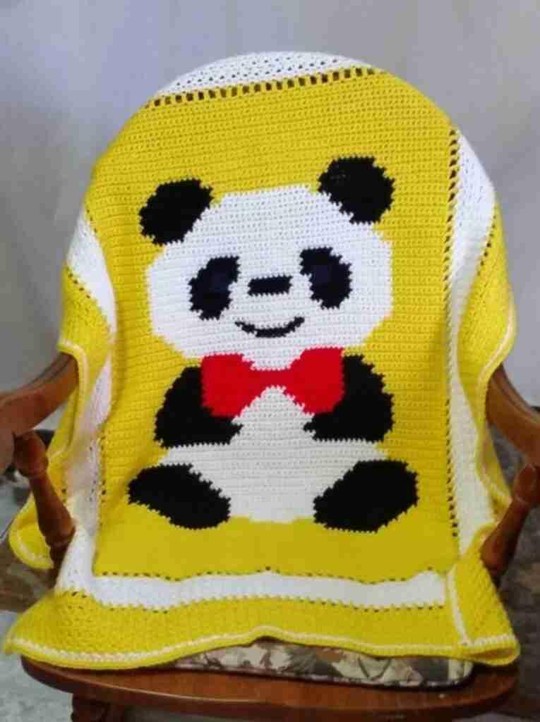Panda Blanket Crochet Pattern