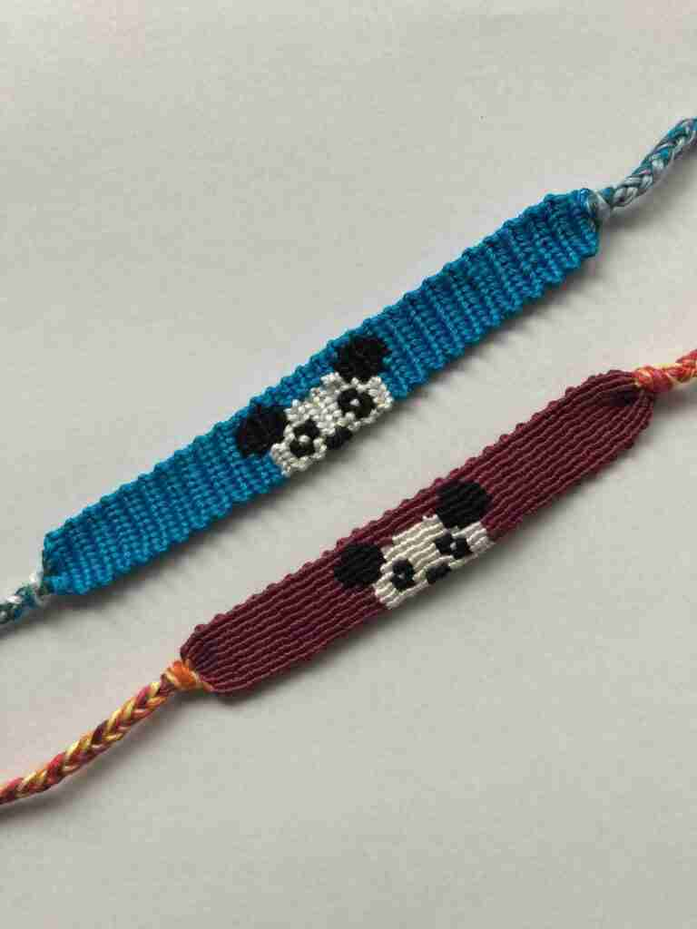 Panda Friendship Bracelet Pattern