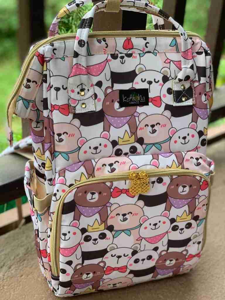 Diaper Bag Backpack Panda Hawaiian