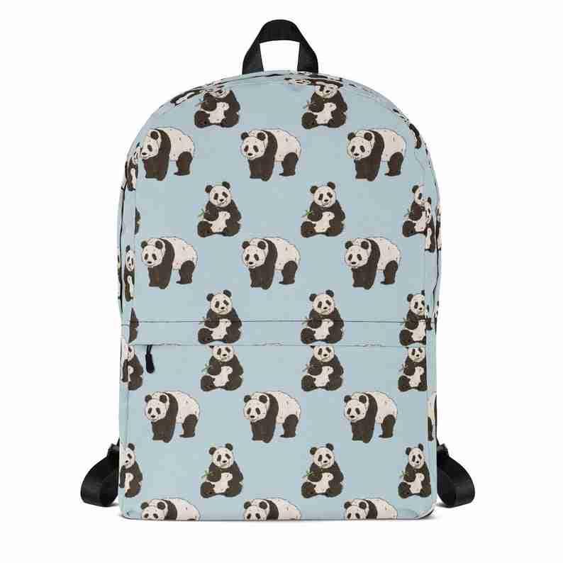 Panda Cute Pattern School Bag