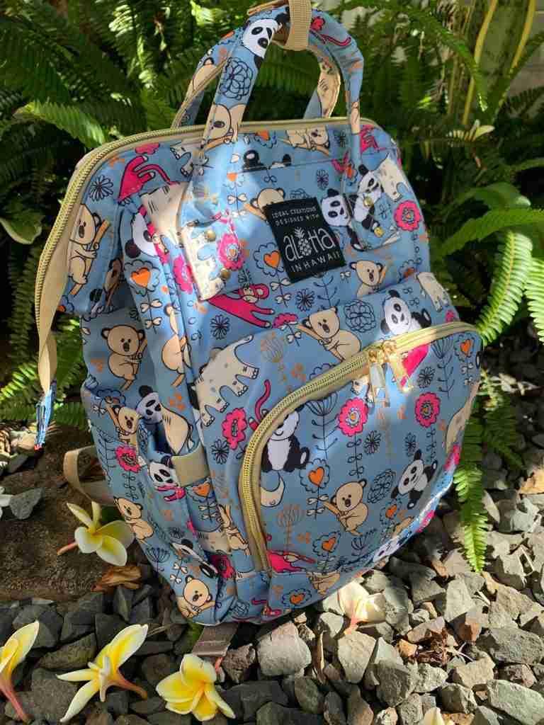 Panda Zoo Hawaiian Travel Bag Pack