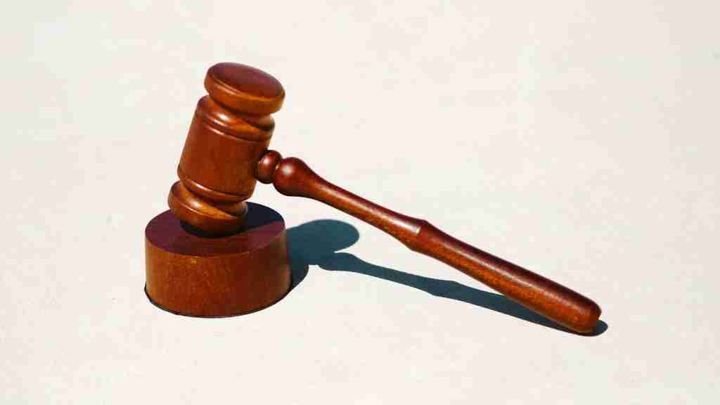 A gavel representing the law.